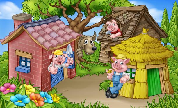 三匹の子豚 イラスト素材 Istock