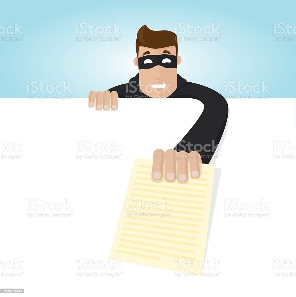 The tief still a document royalty-free the tief still a document stock vector art & more images of adult