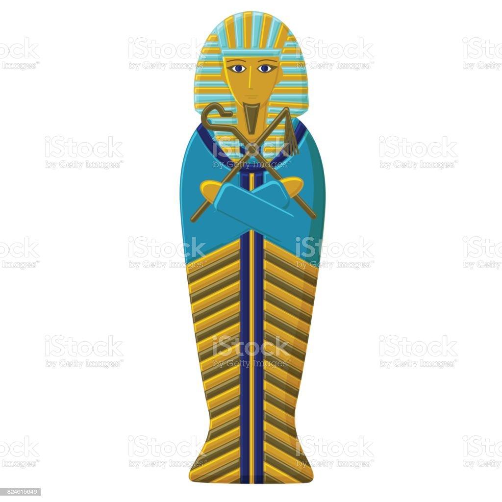 Vetores De A Tumba Do Farao Do Antigo Egito Sarcofago Do Faro