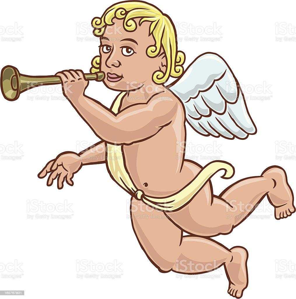 The trumpet angel