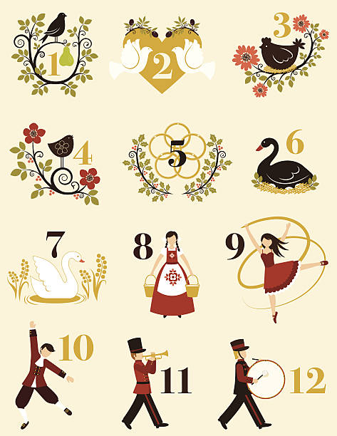 royalty free the twelve days of christmas clip art vector images