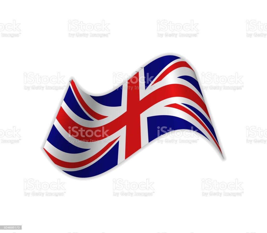 The UK Flag. vector art illustration