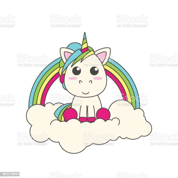 The unicorn sits on a cloud behind him is a rainbow flat vector for vector id802278644?b=1&k=6&m=802278644&s=612x612&h=vef1ckf0ycfgulc6eqdhrqhmymtvyuzsnpeolr5bgmu=