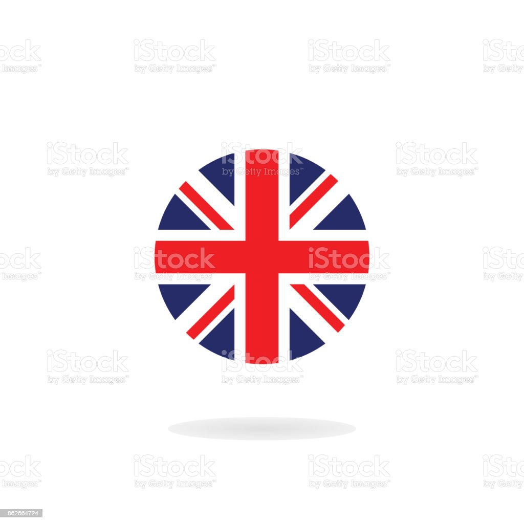 The Union Jack in circle form. Vector icon. National flag of the United Kingdom vector art illustration