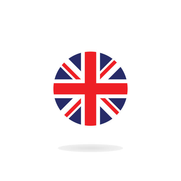 the union jack in circle form. vector icon. national flag of the united kingdom - uk flag stock illustrations, clip art, cartoons, & icons