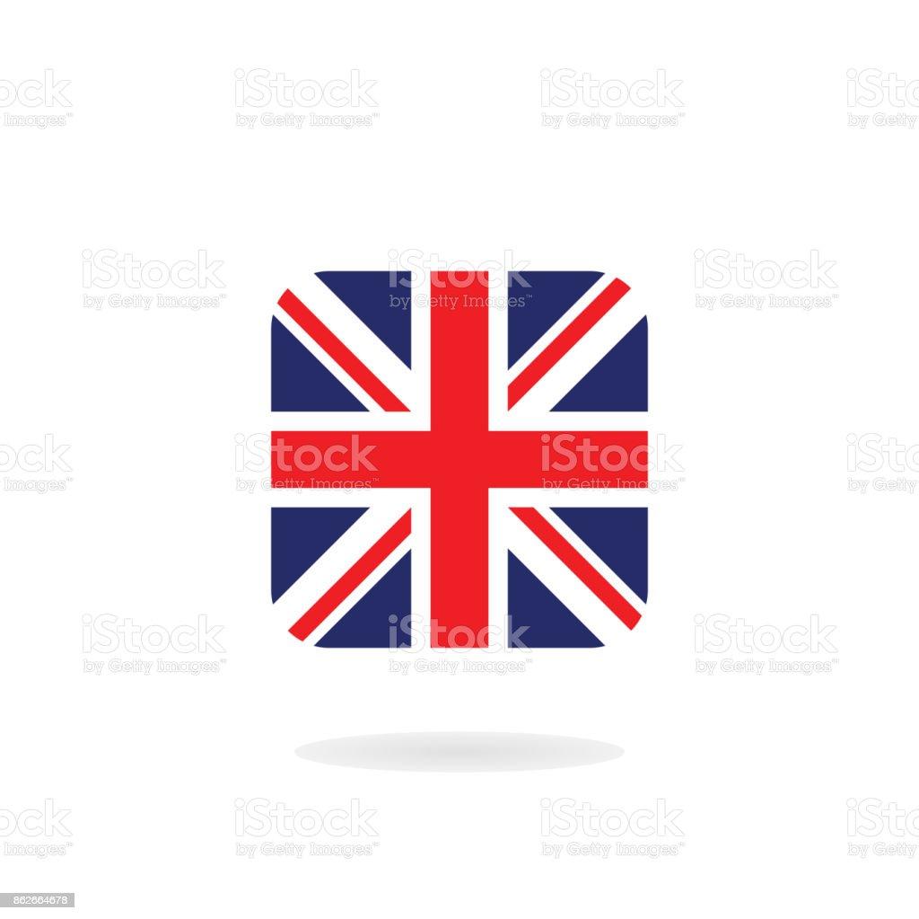 Ilustración de La Union Jack En Forma Cuadrada Icono De Vector ...