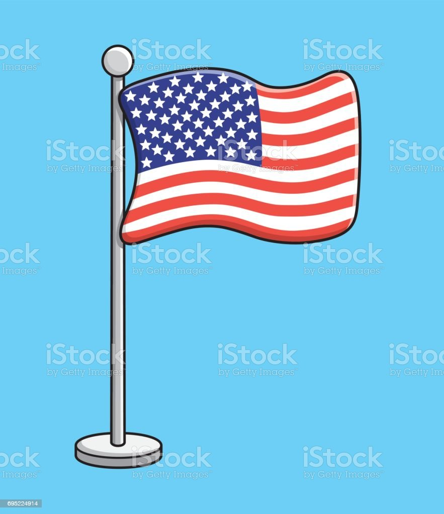 The United States flag vector vector art illustration