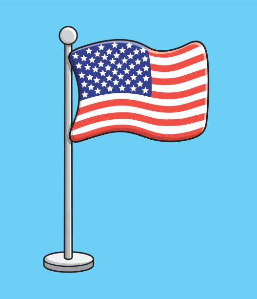 The United States flag vector vector art illustration
