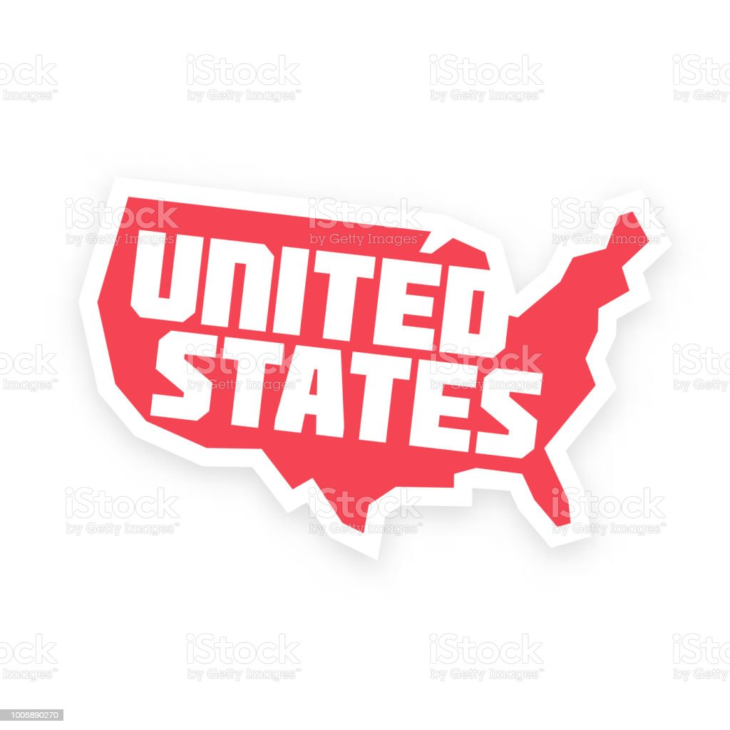 American Map Vector.The United States Of America American Map Vector Stock Vector Art