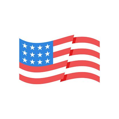 The United States of America flag icon design