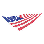 Vector illustration of the flag of the United States of America.