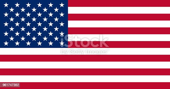 istock The United States of America Flag, vector illustration 961747352