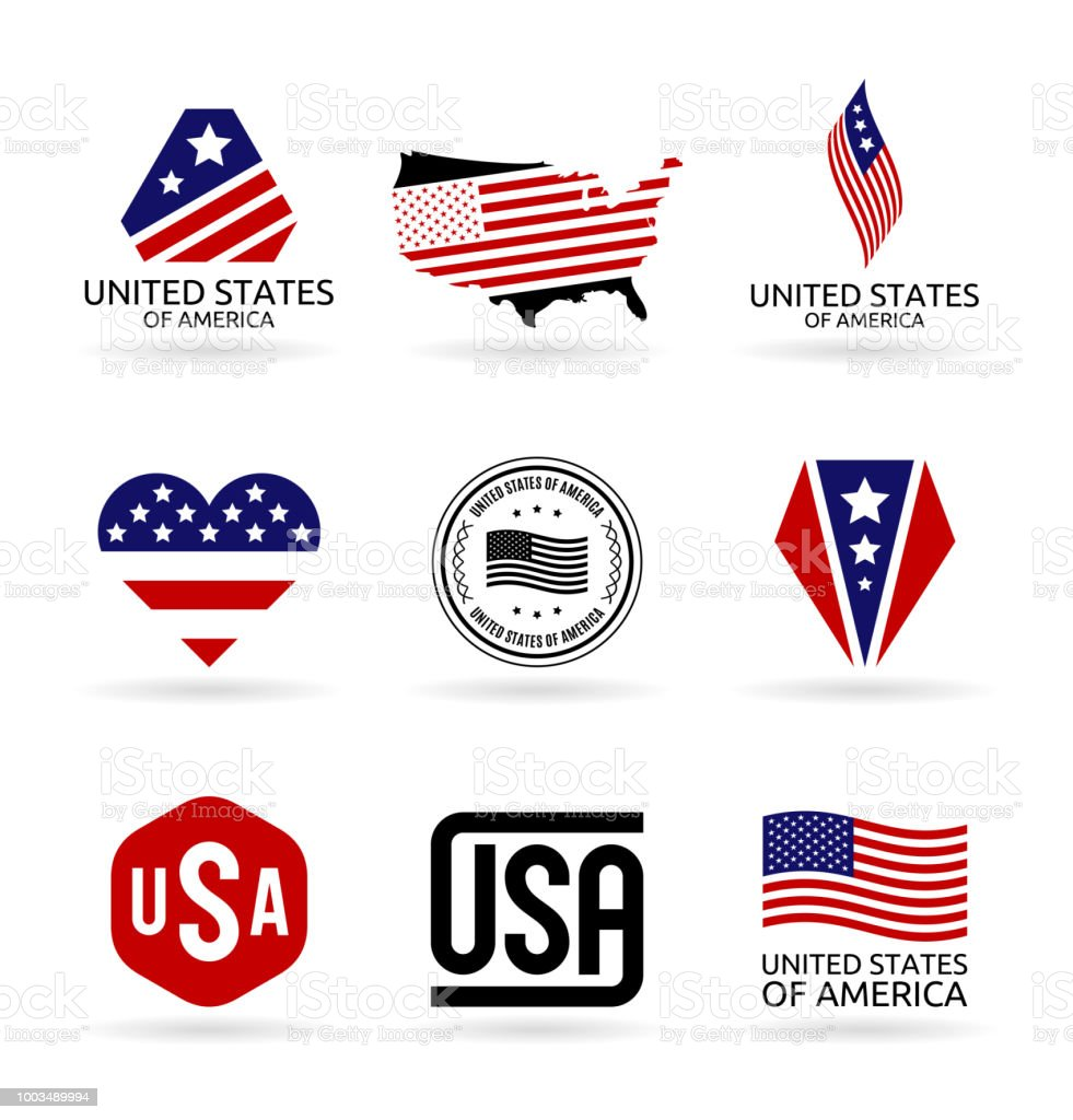 The United States Of America Usa Flag Logo Design American National