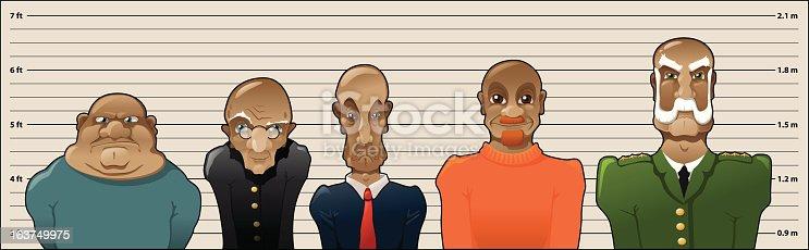 Convict lineup.