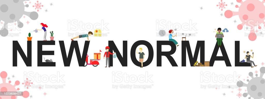 The Vector Banner Concept Of New Normal Life Style Stock