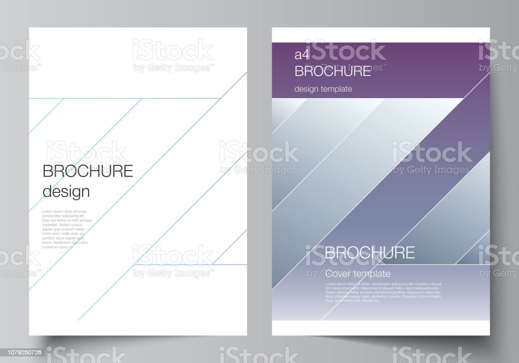 The vector illustration of the editable layout of A4 format modern...