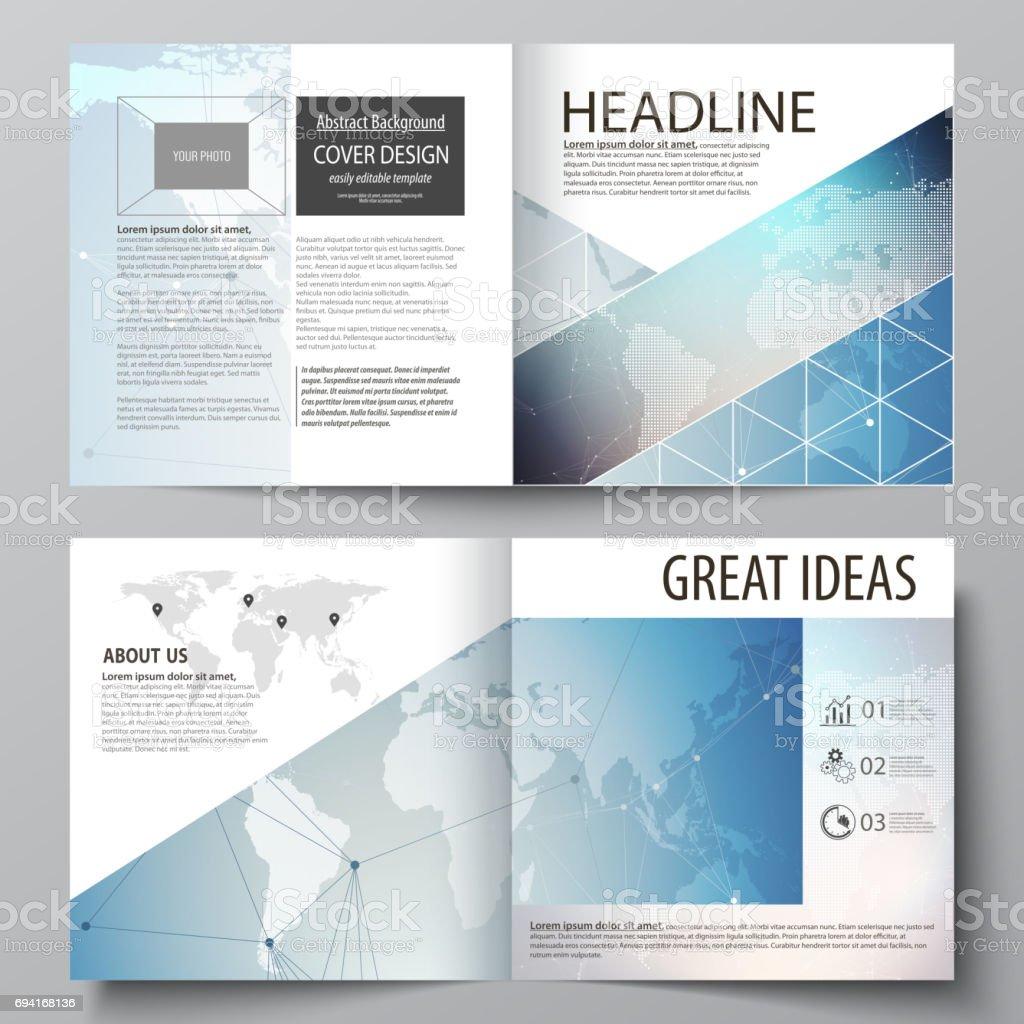 Die Vektorgrafik Editierbare Layouts Von Zwei Covervorlagen Für ...