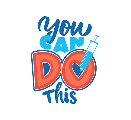 The vector illustration of lettering phrase - You can DO this.