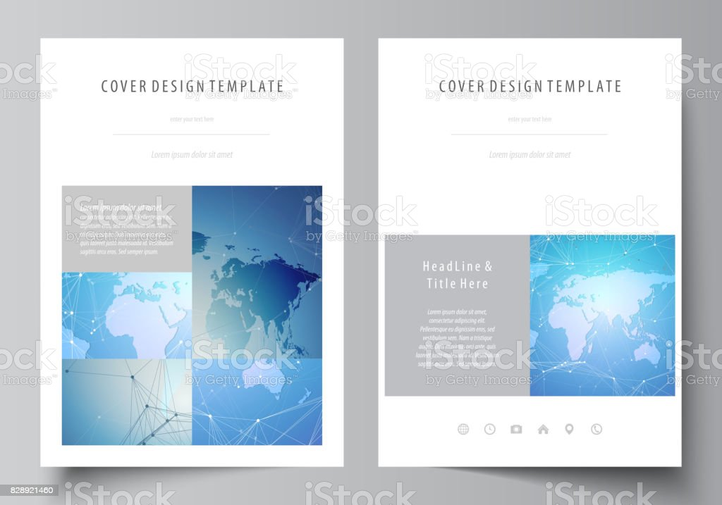 the vector illustration of the editable layout of a4 format covers