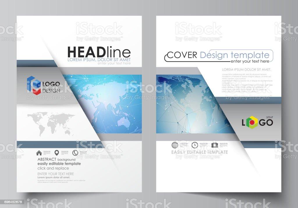 Die Vektorillustration Des Editierbare Layouts Von Zwei Din A4format