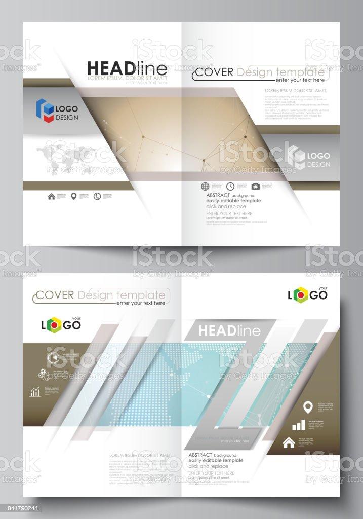 La Ilustración Del Vector Del Trazado Editable De Dos Maquetas De ...