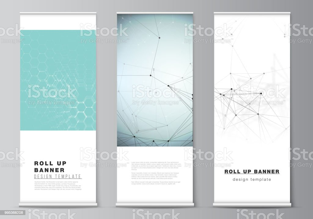 the vector layout of roll up banner stands vertical flyers flags