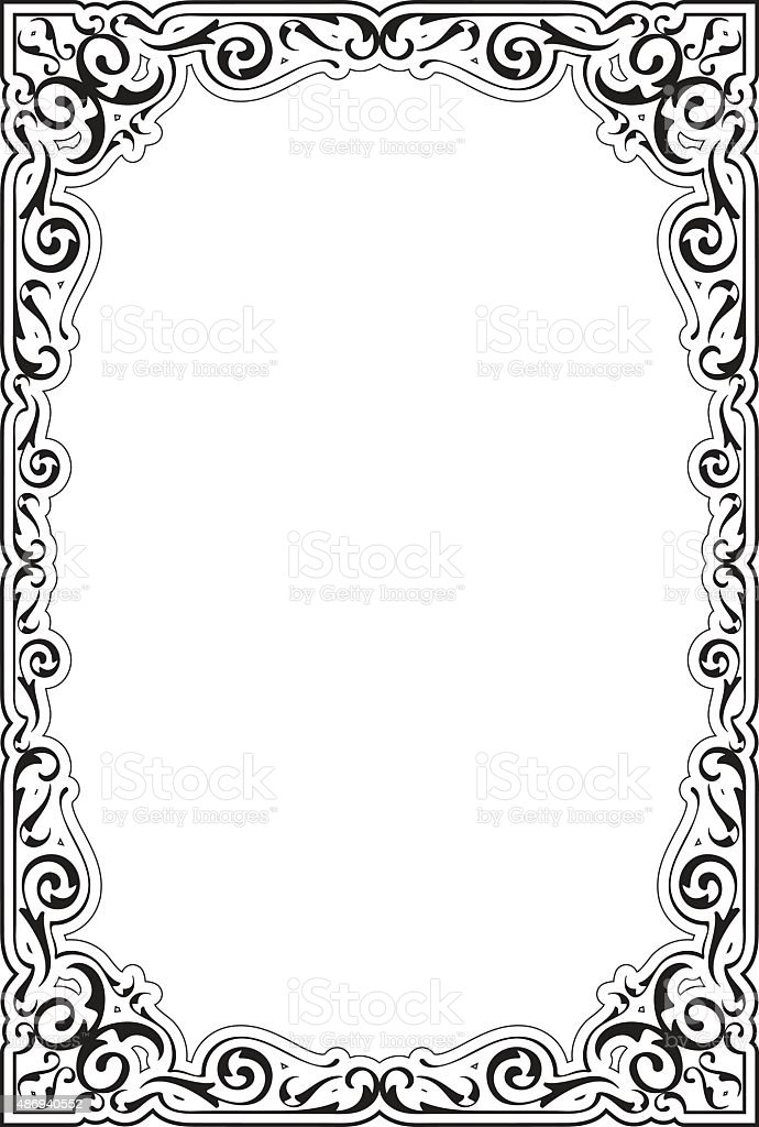 The Victorian Ornate Frame Stock Vector Art & More Images of 2015 ...