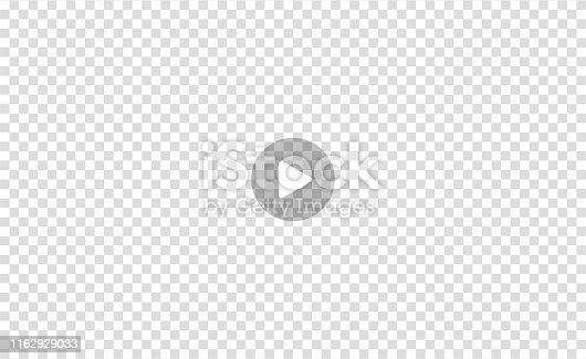 Vector Illustration of the video player sign or movie media play bar on transparent background. EPS10.