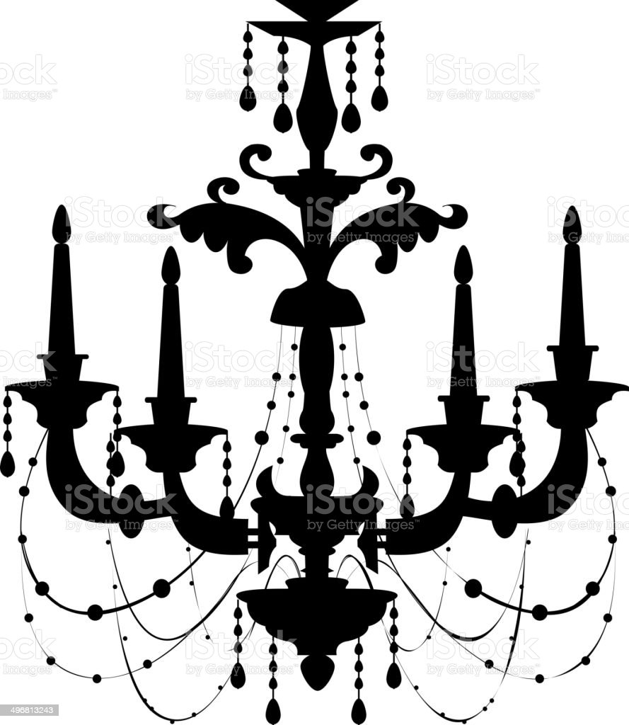 The view of chandelier stock vector art more images of art the view of chandelier royalty free the view of chandelier stock vector art amp mozeypictures Choice Image