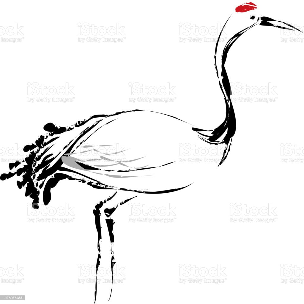 The view of crane royalty-free stock vector art
