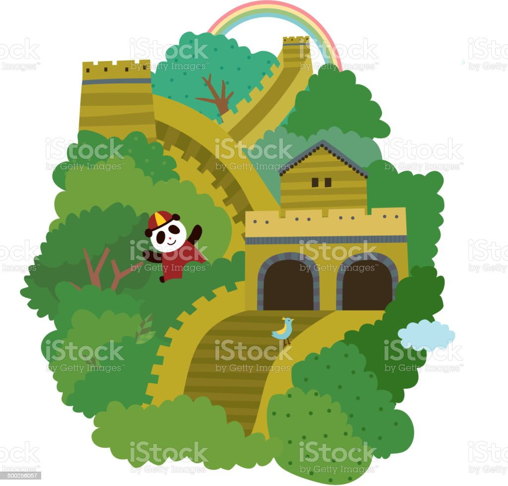 royalty free clip art of a great wall of china clip art vector rh istockphoto com great wall of china drawing clipart free clipart great wall of china