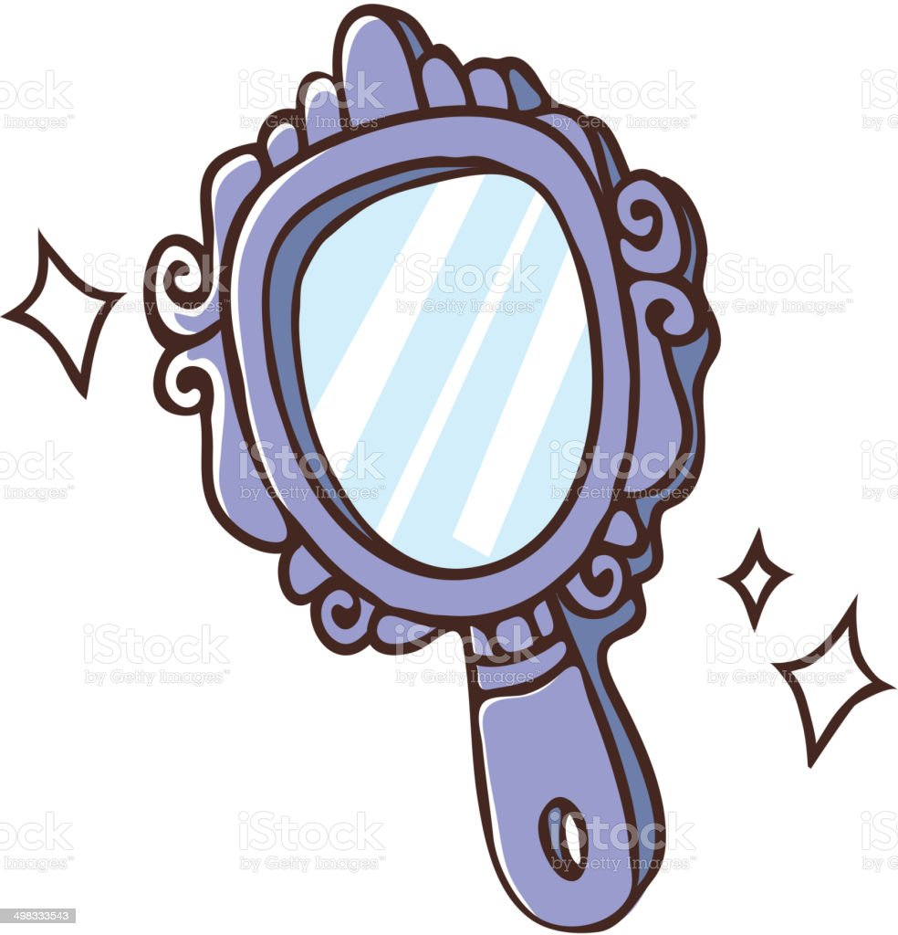 royalty free hand mirror clip art vector images illustrations rh istockphoto com  vintage hand mirror clipart