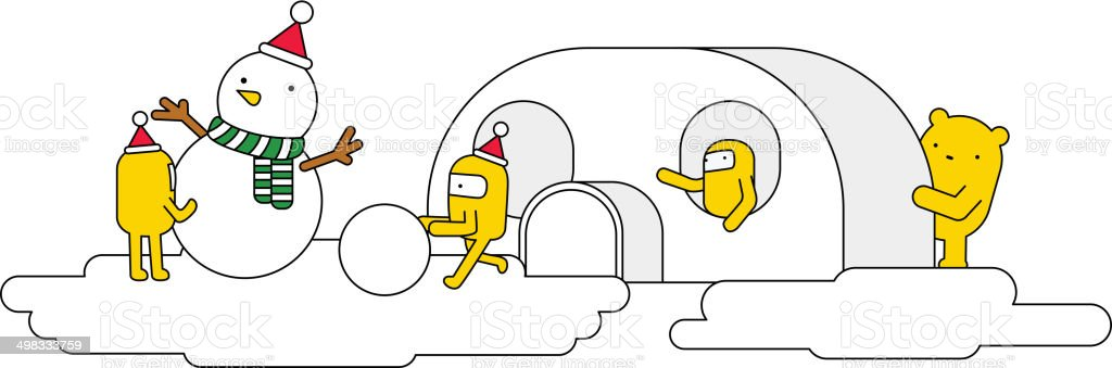 The view of igloo royalty-free stock vector art
