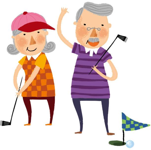 Royalty Free Senior Couple Golf Clip Art, Vector Images ...