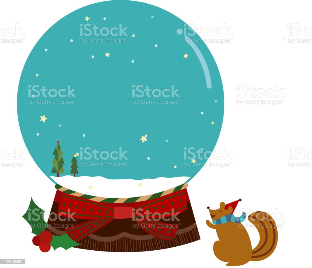 The view of snowball royalty-free stock vector art