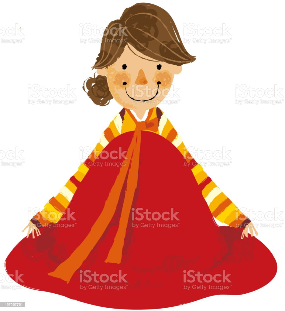 The view of woman royalty-free stock vector art