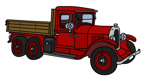 Royalty Free Red Pickup Truck Clip Art, Vector Images ...
