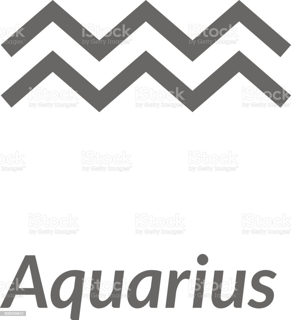 The Waterbearer Aquarius Sing Star Constellation Vector Element Age