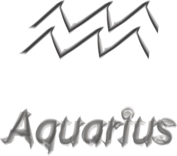 Royalty Free Aquarius Horoscope Circle On Beautiful Space Background