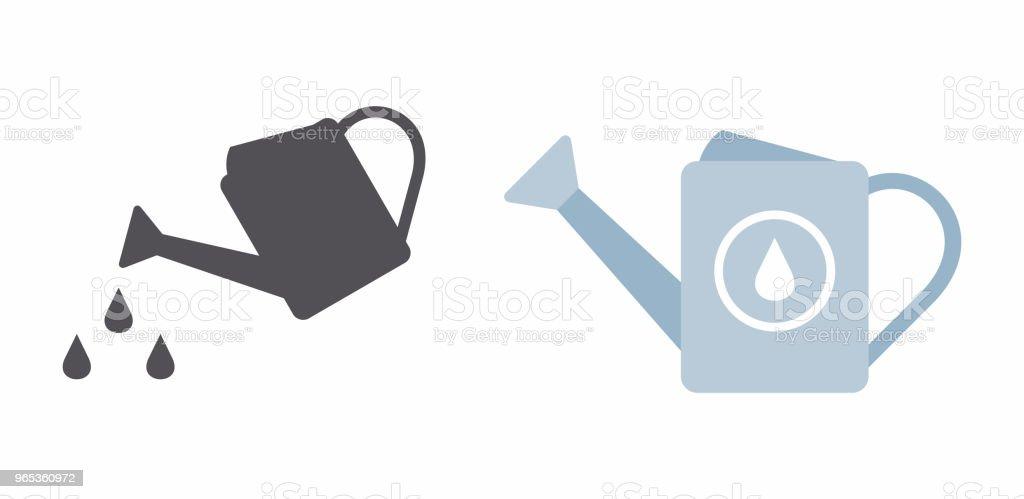 The watering can icon the watering can icon - stockowe grafiki wektorowe i więcej obrazów bez ludzi royalty-free
