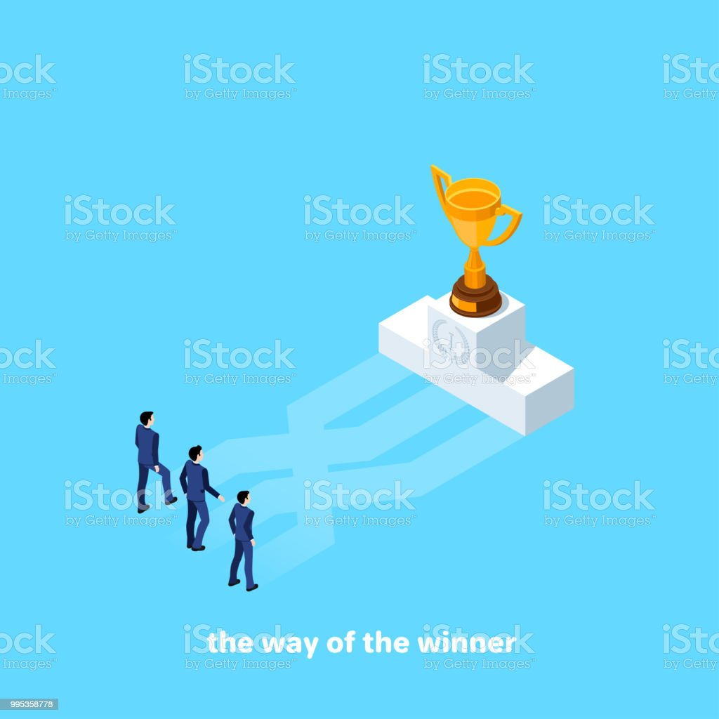 the way of the winner vector art illustration