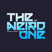 c83f329f ... The weird one trendy fashionable vector t-shirt and apparel design,  typography, print ...