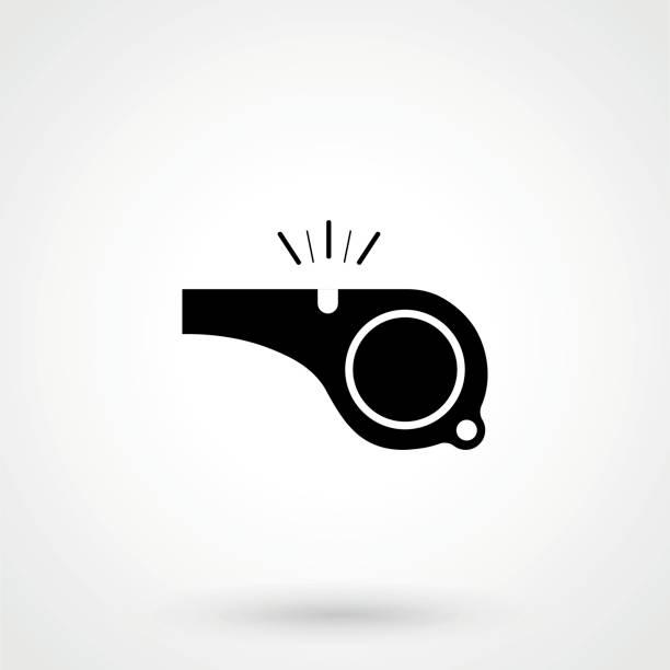 illustrazioni stock, clip art, cartoni animati e icone di tendenza di the whistle icon - fischietto