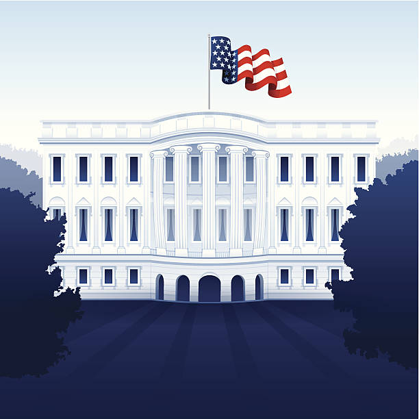The White House The Whitehouse concept illustration.  white house stock illustrations
