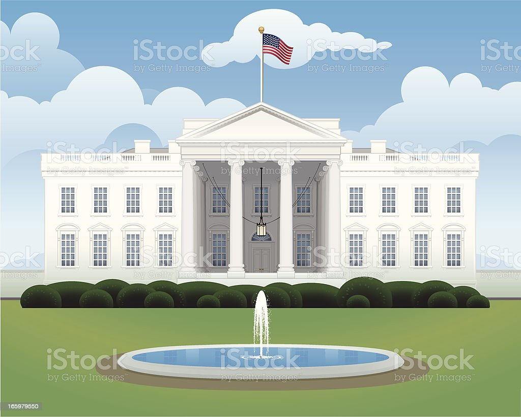 The White House royalty-free the white house stock vector art & more images of american culture