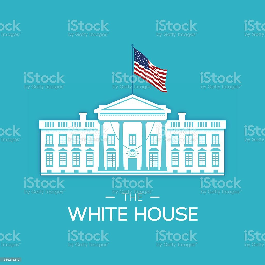 The White House vector art illustration