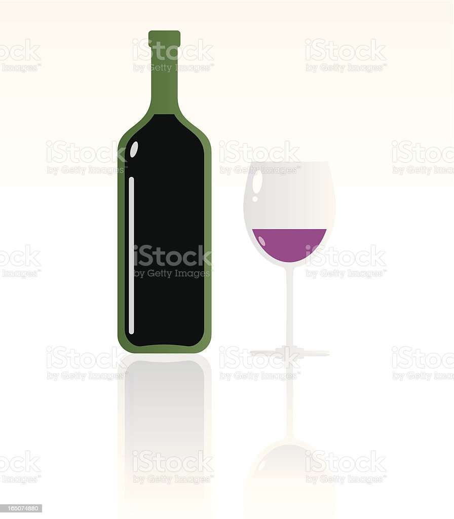 The Wine. royalty-free stock vector art
