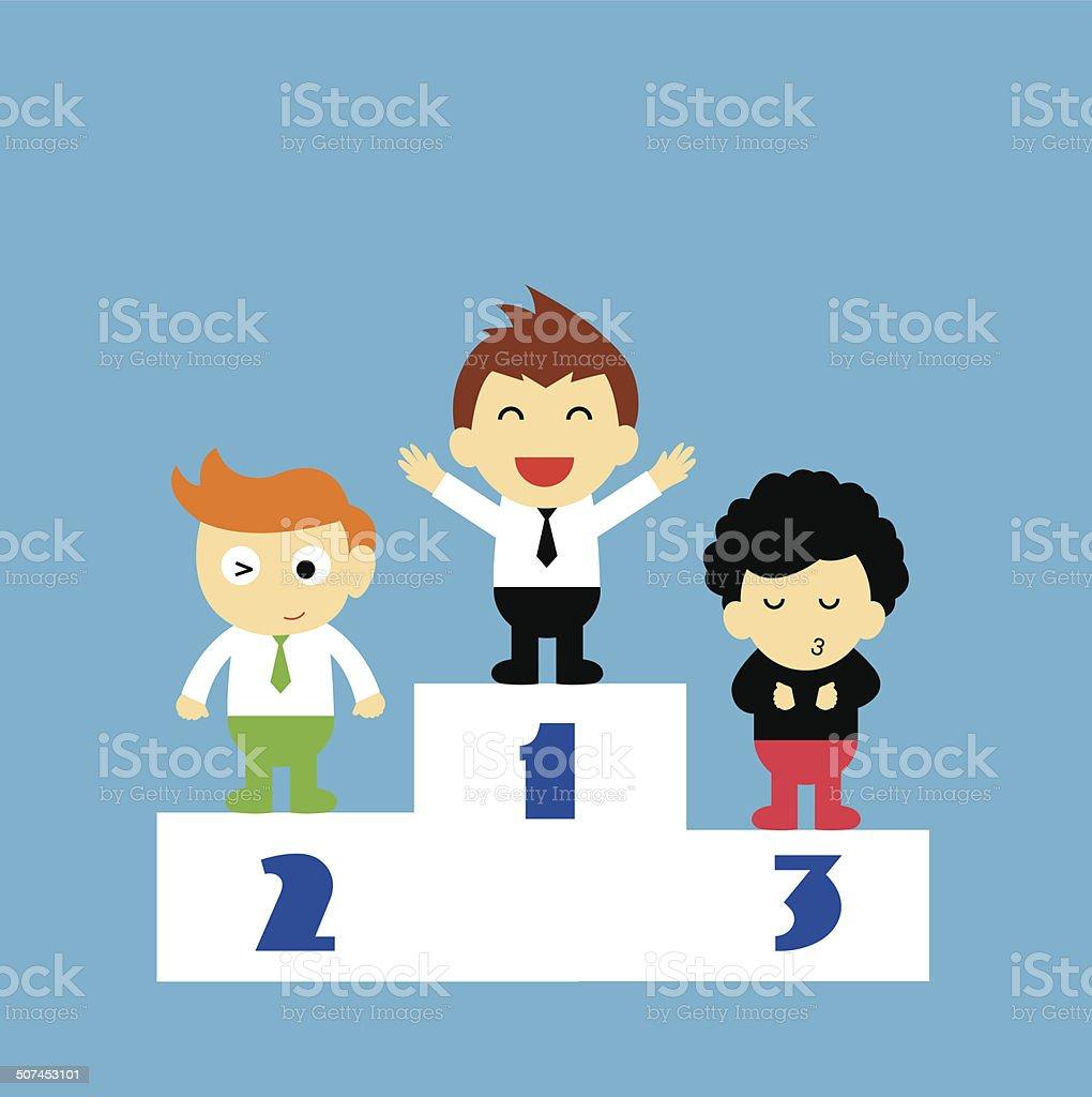 the winner vector cartoon royalty-free the winner vector cartoon stock vector art & more images of achievement