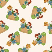 The Wizard of Oz cartoon ,seamless pattern