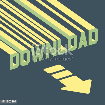 istock The word download with an arrow. 3d vector illustration. 511803991